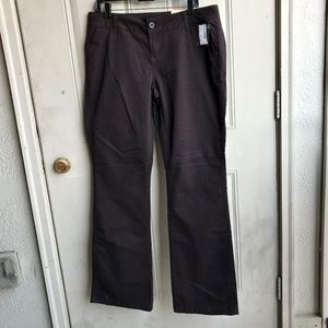 NWT Maurices size 14 long boot cut brown jeans